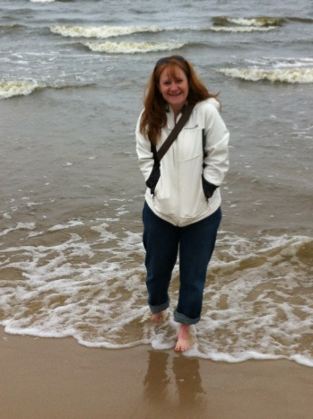My feet in the Baltic Sea!