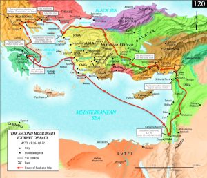 Apostle-Paul-Second-Missionary-Journey-Map