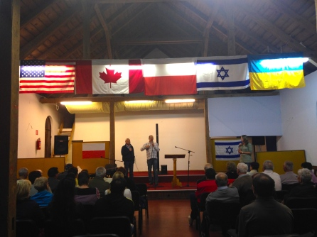Our first session together. I love the flags representing the people who have come together in this room - all worshipping one God from our different languages and cultures.