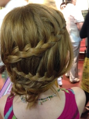 Tonya did Anna's hair for Shabbat