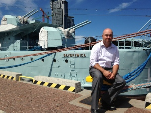 Ben loves military stuff - destroyer in Gdynia